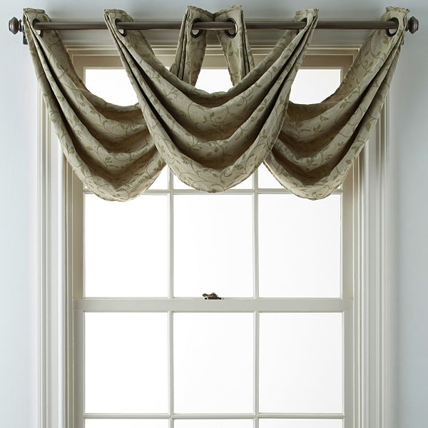 JCPenney Home™ Anza Grommet-Top Waterfall Valance