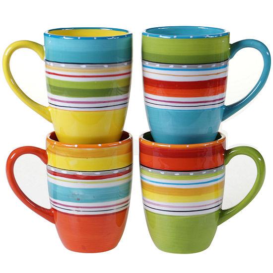 Certified International Mariachi Set of 4 Mugs