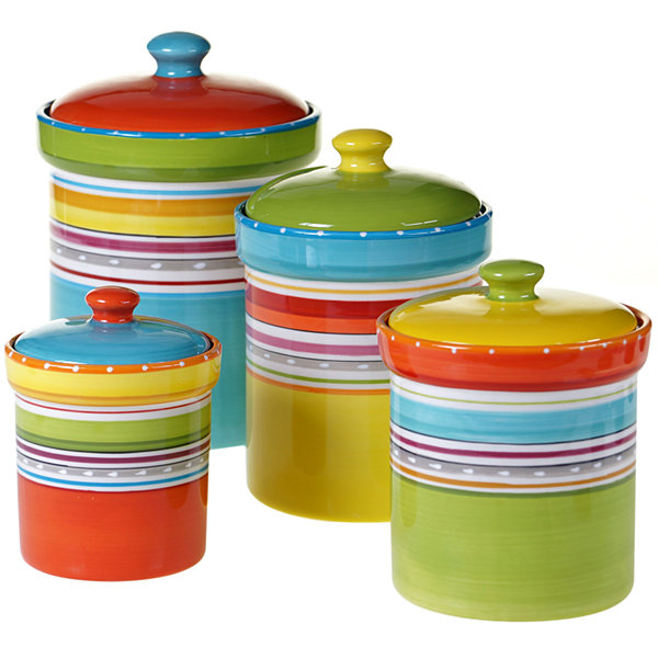 Certified International Mariachi 4-pc. Canister Set