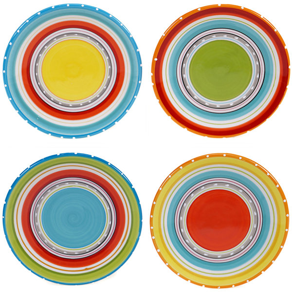 Certified International Mariachi Set of 4 Canapé Plates