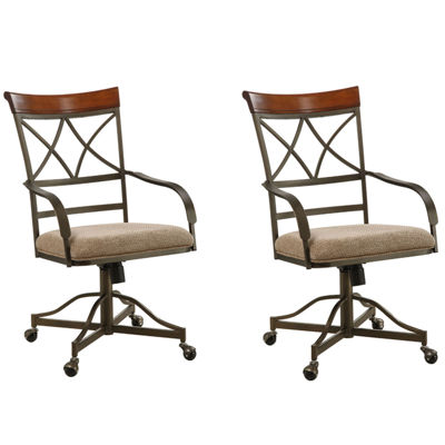 Glenside Set of 2 Swivel Dining Chairs