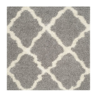 Safavieh Dallas Shag Collection Caris Geometric Square Area Rug