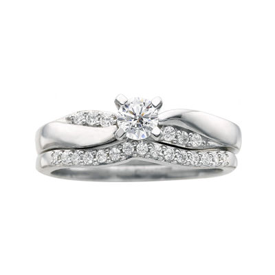 I Said Yes™ 3/8 CT. T.W. Certified Diamond Bridal Ring Set