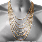 "10K Yellow Gold 4mm 22""-24"" Hollow Glitter Rope Chain"