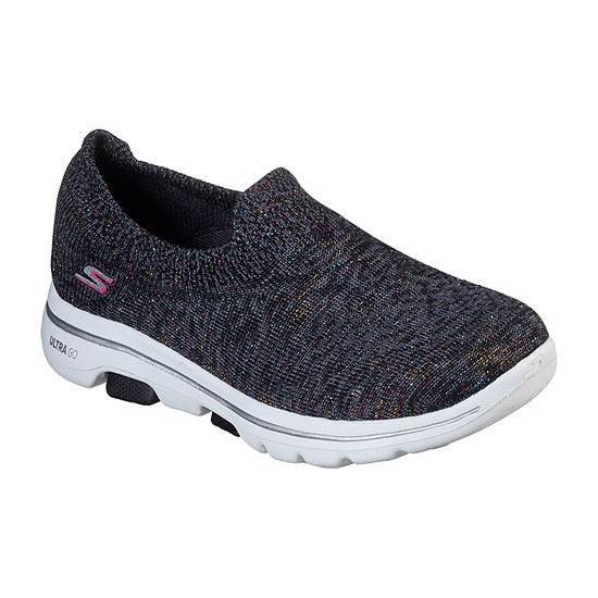 Skechers Go Walk 5 Sparkling Womens Slip-on Walking Shoes