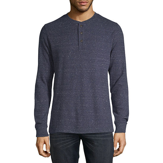 St. John's Bay Mens Henley Neck Long Sleeve Thermal Top