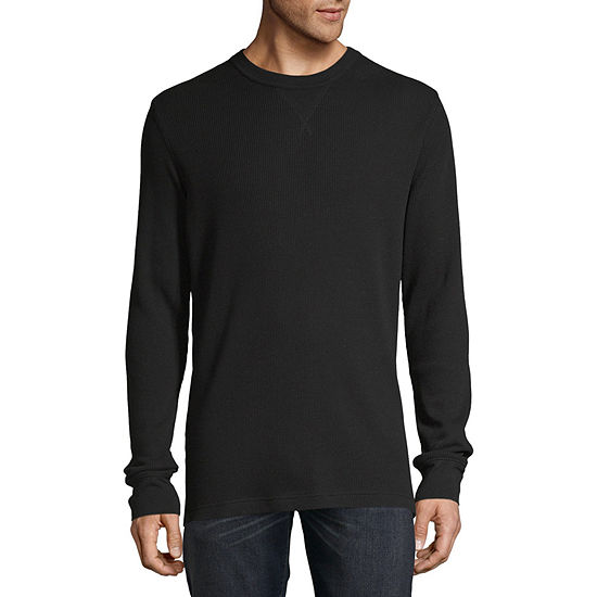 St. John's Bay Mens Crew Neck Long Sleeve Thermal Top