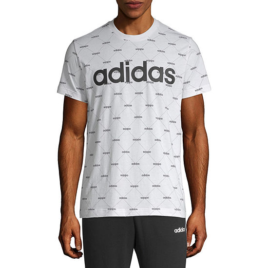 adidas Mens Crew Neck Short Sleeve T-Shirt-Athletic