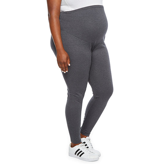 Belle & Sky Maternity Full Panel Ankle Legging - Plus