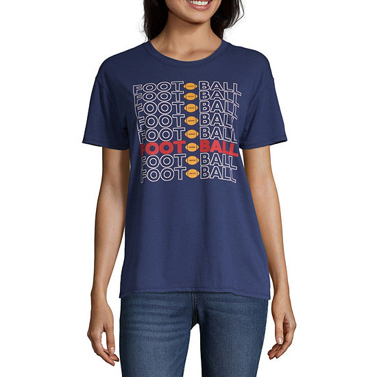 City Streets-Juniors Womens Crew Neck Short Sleeve Graphic T-Shirt