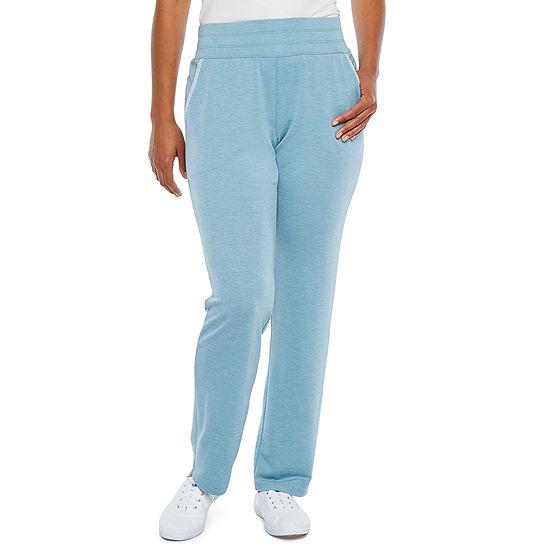 St. John's Bay Active Womens Mid Rise Slim Pant-Petite