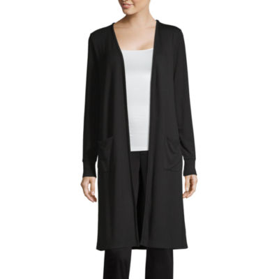 Liz Claiborne Studio Womens Long Sleeve Open Front Cardigan