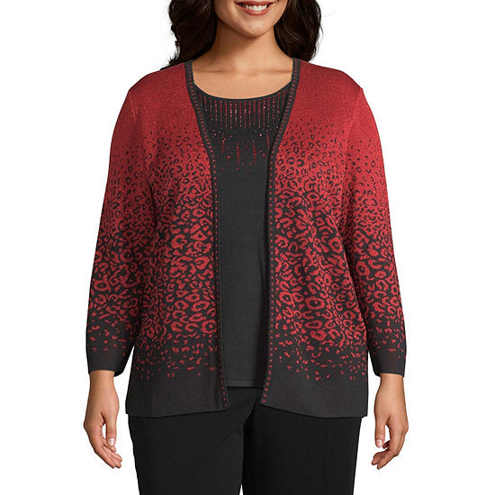 Alfred Dunner Animal Twofer Sweater-Plus