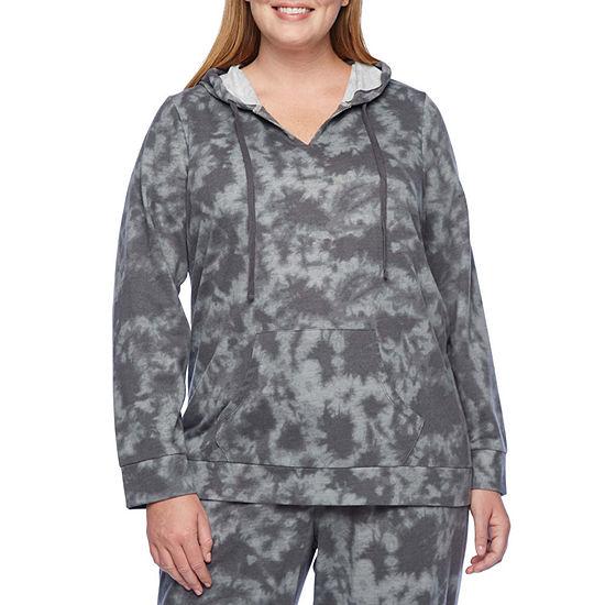 Xersion Womens Hooded Neck Long Sleeve Hoodie Plus