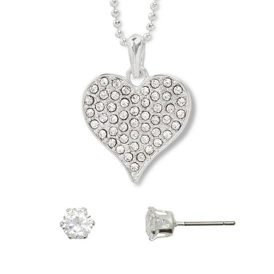 Mixit 2-pc. 16 Inch Heart Necklace Set