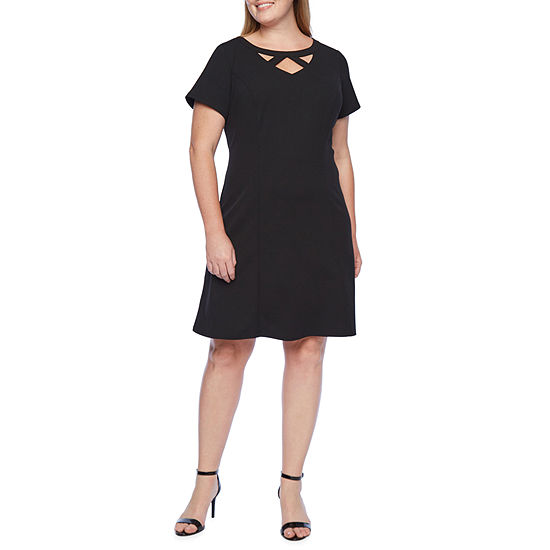 Alyx-Plus Short Sleeve Fit & Flare Dress