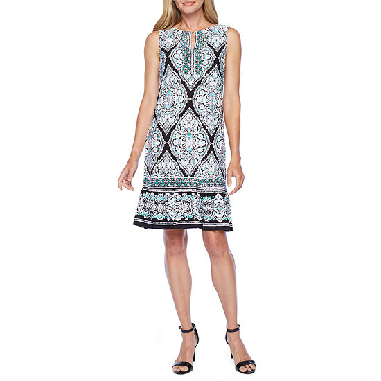 Studio 1-Petite Sleeveless Shift Dress