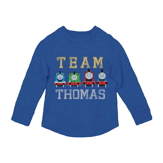 Thomas The Tank Boys Crew Neck Long Sleeve Thomas and Friends Graphic T-Shirt-Toddler