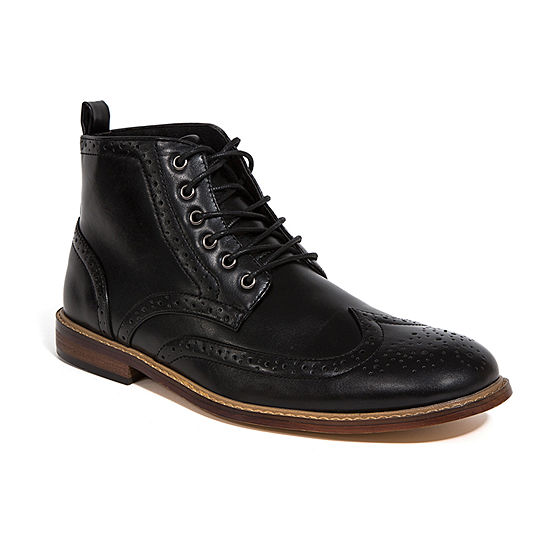 Deer Stags Mens Jerard Block Heel Lace-up Dress Boots