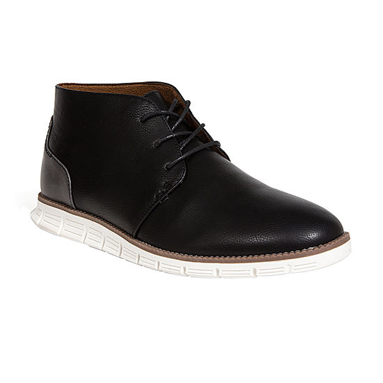 Deer Stags Mens Adrian Block Heel Lace-Up Dress Boots