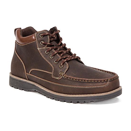Deer Stags Mens Callow Dress Boots Block Heel