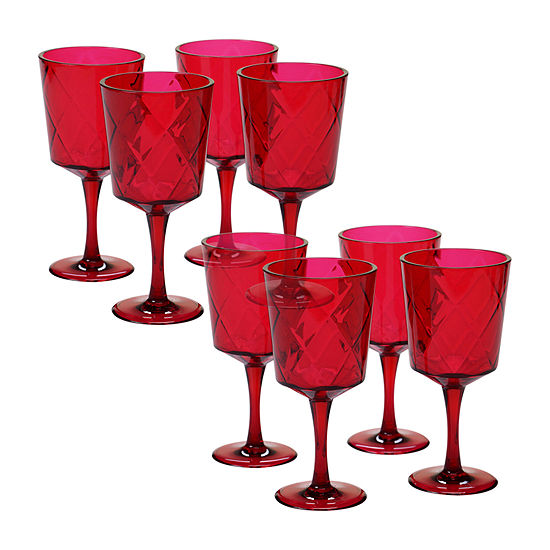 Certified International Acrylic Drinkware 8-pc. Goblet