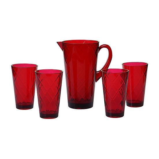 Certified International Acrylic Drinkware 5-pc. Serving Pitcher