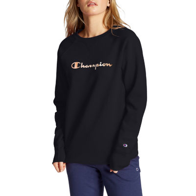 Champion Womens Rose Gold Long Sleeve Fleece Crew