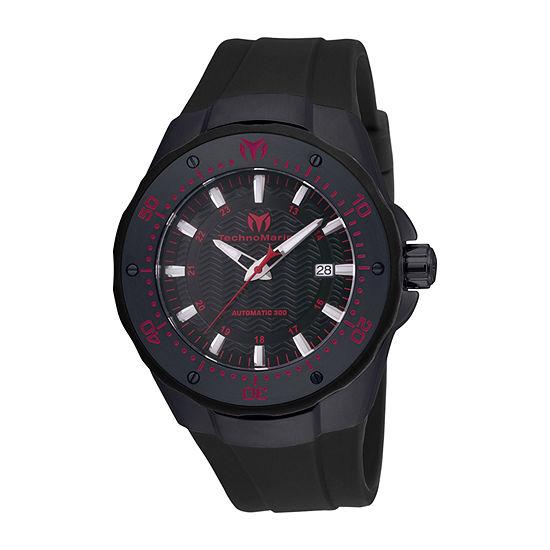 Techno Marine Mens Black Stainless Steel Strap Watch Tm-215088