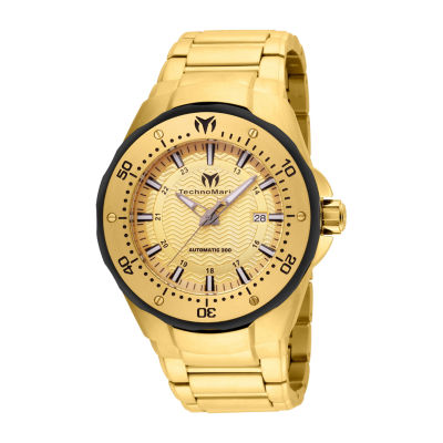 Techno Marine Mens Gold Tone Stainless Steel Bracelet Watch Tm-215095