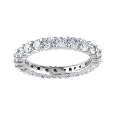 14K 2 CT. T.W. Shared Prong Enternity Band