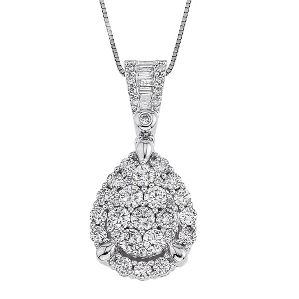 Dp0626201517014400mproductpdp tw certified diamond 14k white gold pear shaped pendant necklace aloadofball Image collections