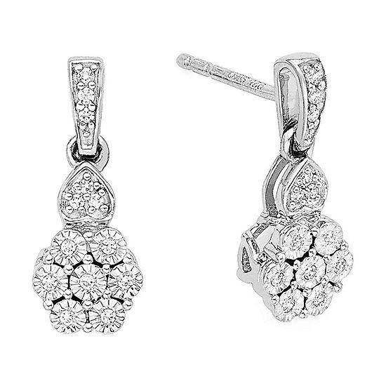 Diamond Blossom 1 10 Ct T W Earrings