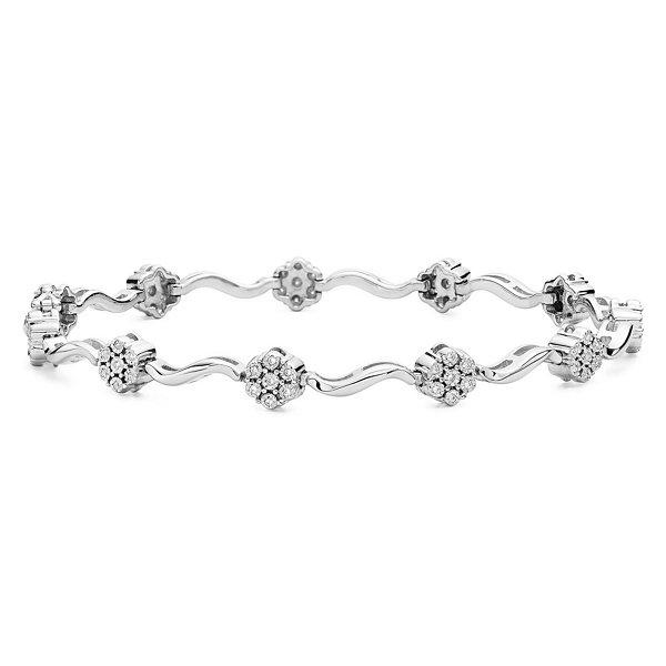 Fine Jewelry diamond blossom 1/2 CT. T.W. Diamond Hoop Earrings LvjV7OGoDs