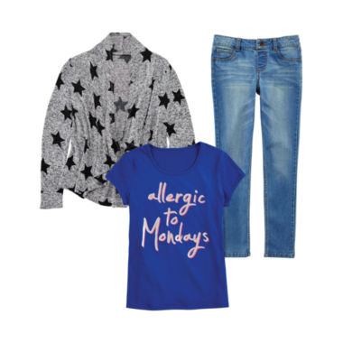 jcpenney.com | Total Girl® Graphic Tee, Cardigan or Jeggings - Girls 7-16