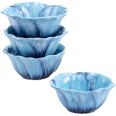 Certified International Tuileries Garden Set of 4 Poppy Ice Cream Bowls
