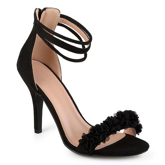 Journee Collection Womens Eloise Pumps Open Toe Stiletto Heel