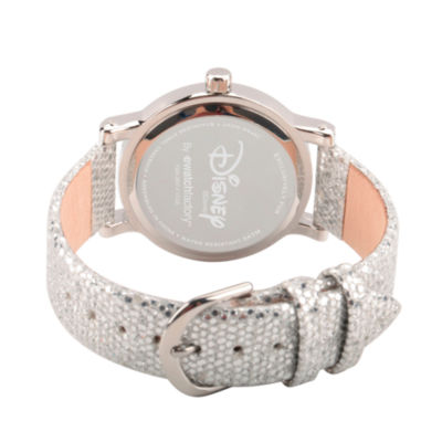 Disney Princess Belle Beauty and the Beast Womens Silver Tone Strap Watch-Wds000238