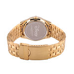 Disney Beauty and the Beast Womens Gold Tone Stainless Steel Bracelet Watch-Wds000239