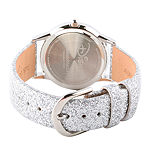 Disney Descendants Girls Silver Tone Leather Strap Watch-Wds000249
