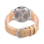 Elena of Avalor Girls Gold Tone Leather Strap Watch-Wds000281