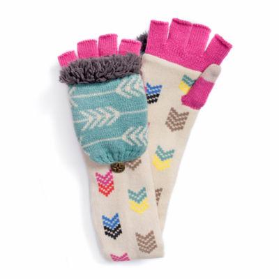 MUK LUKS® Women's Multi Long Flip Mittens