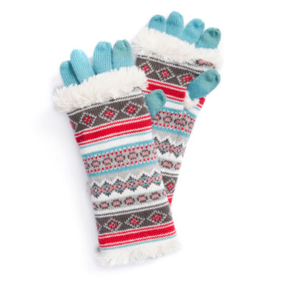 Muk Luks Fairisle 3-In-1 Pattern Cold Weather Gloves