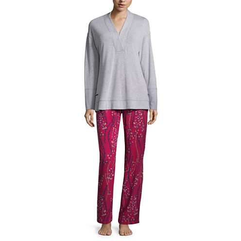 Liz Claiborne 2-pc. Floral Pant Pajama Set