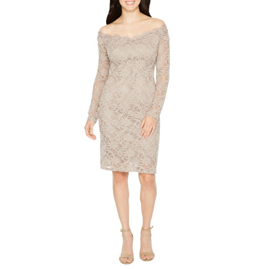 Blu Sage Long Sleeve Sheath Dress