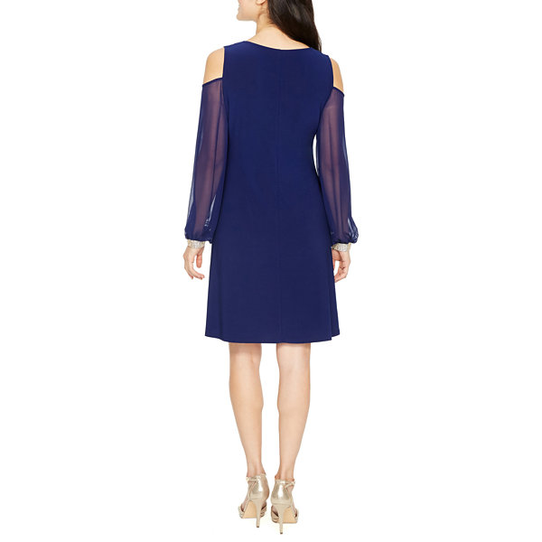 MSK Long Sleeve Shift Dress