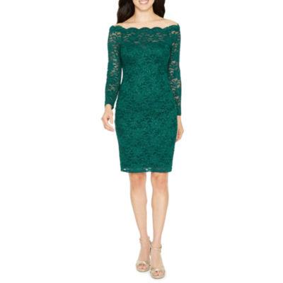 One by Eight Long Sleeve Sheath Dress