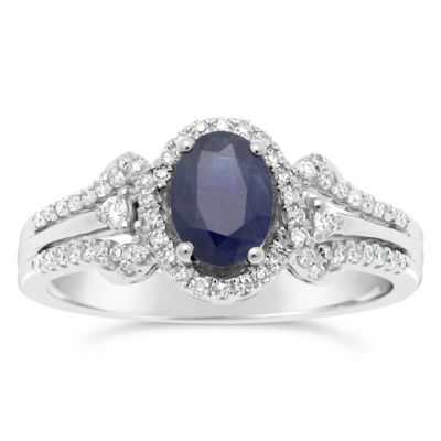Womens 1/4 CT. T.W. Blue Sapphire 10K Gold Cocktail Ring
