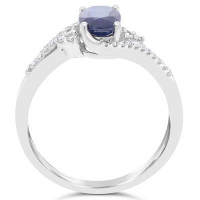 Womens 1/8 CT. T.W. Genuine Blue Sapphire 10K Gold Cocktail Ring
