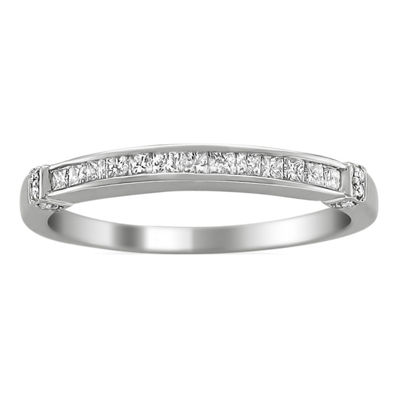 Womens 2.5mm 1/3 CT. T.W. Genuine White Diamond 14K Gold Band